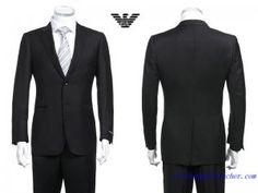 Costume Armani Collezioni Homme deux Boutons Noir Costume Armani e9f2ef5a9cc