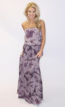 tie dye tube maxi dress $41              -  Mar13 shopriffraff.com