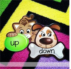 Pet Theme Opposites Activity with Dollar Store Coordinate Cut-Outs (from Miss Kindergarten)