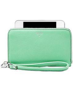 Fossil Sydney Leather Zip Phone Wristlet - Wallets  Wristlets - Handbags  Accessories - Macy's