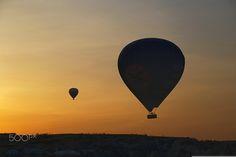 The breaking dawn in Cappadocia. - null