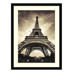 Eiffel Tower Framed Wall Art - 32.62W x 42.62H in.   from hayneedle.com