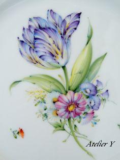 植物 1 | Atelier Y porcelain painting (磁器上絵付け)