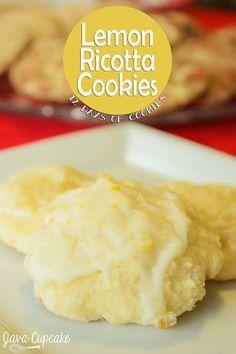 *Lemon Ricotta Cookies | http://JavaCupcake.com Yammy recipes, have you tried? - http://chocolateaddictio... #chocolate #dessert #recipes