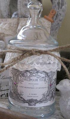 french market apothecary jar