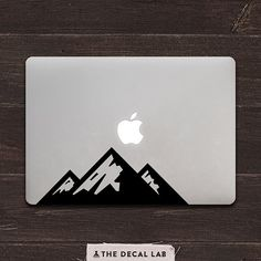 Mountains Vinyl MacBook Decal by DecalLab on Etsy Macbook Pro Stickers, Macbook Decal, Cell Phone Quotes, Silhouette Cameo Projects, Vinyl Projects, Laptops, Phones, Decals, Cricut
