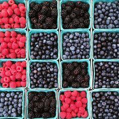 Berries at the farmers market @thetransatlanticblog via Instagram