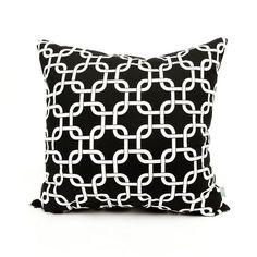 Black Links Large Pillow | FREE SHIPPING