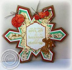 Susanne Rose - Papierkleckse: Schneeflöckchen, Weißröckchen... #noordesign #noordesigndeutschland #dutchdoobadoo #christmas