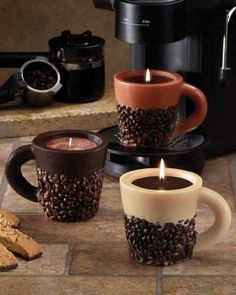 Nothing smells more inviting than a pot of coffee brewing. But if you just want the aroma without making a pot of coffee right now, how about coffee scented candles?