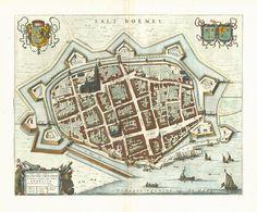 "1649 map of Zaltbommel in Willem and Joan Blaeu's ""Toonneel der Steden"""