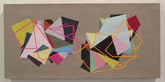 Fiona Curran ~ Smart People Go For Replicas, 2009, Acrylic on linen with card
