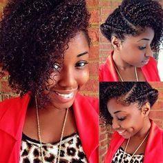 Quickly styled 5 minutes before leaving for work this morning. Not too shabby. #teamnatural_ #naturalhairdoescare #curlbox #naturalhairdaily #naturalhair #teamnatural