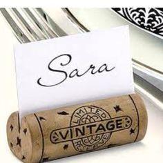wine cork place holders