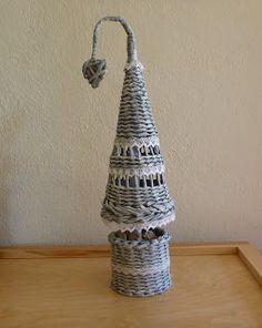 Gerry Creations: Alberello di Natale intrecciato con le cannucce di carta