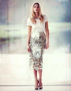 skirting #metallic #fashion #skirts