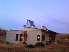 Modern Prefab House Off Grid With Rootin' Tootin' Cowboys.