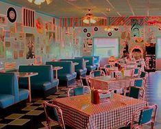 A while back, I stumbled upon the Pink Cadillac Diner, near Lexington & Natural Bridge, VA. Worth a short drive off the interstate for great food & wonderful atmosphere! Pink Cadillac Diner Dream style neon colors by Patsysjoy Vintage Diner, Retro Diner, 1950s Diner, Retro 50, Diner Aesthetic, 1990 Style, Diner Decor, American Diner, American Green