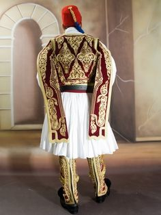 Greek Traditional Dress, Traditional Outfits, Albanian People, Greek Independence, Sheer Beauty, Ethnic Dress, Greek Clothing, Embroidery Fashion, Amai
