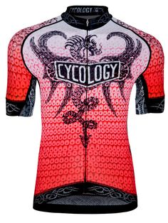 """""""Fire Dragon"""" men's cycling jersey - available now from Cycology. www.cycologygear.com"""