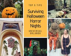 Top 5 Tips for Halloween Horror Nights Universal Orlando Universal Halloween Horror Nights, Universal Orlando, Survival Tips, Top, Survival Life Hacks, Crop Tee, Shirts, Blouses