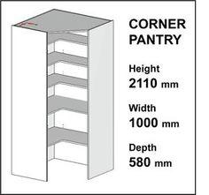 Howdens Corner Larder Cupboard