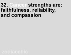 Zodiac Facts. (as I was just talking about compassion in my last session this makes perfect sense)