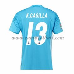 Real Madrid Fotballdrakter 2016-17 Casilla Keeper Hjemmedrakt
