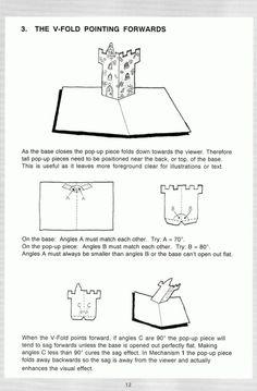 Pop up manual - love the castle!