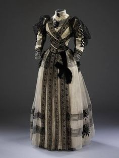 Half-mourning dress (worn as a transition after the period of wearing full mourning had ended)