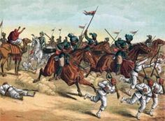 13th Bengal Lancers pursuing Egyptian infantry soldiers after the Battle of Tel El Kebir.