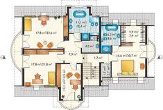 Herbert - murowana – beton komórkowy - Rzut poddasza A 17, Floor Plans, Exterior, Deco, House Styles, Decoration, Deko, Outdoor Spaces, Dekoration