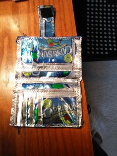 The inside my New Capri Sun Wallet!