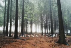 Let's run away together