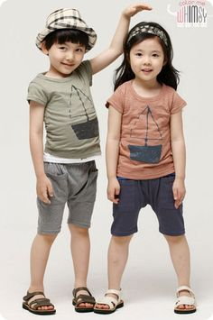 Sailing Tee and Shorts Set for unisex kids fashion at colormewhimsy