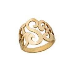 Lucky Monogram Signet Ring