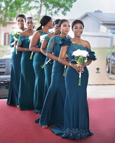 22 Photos of Stylish Bridesmaid Dresses That Are Just So Gor.- 22 Photos of Stylish Bridesmaid Dresses That Are Just So Gorgeous – The Glossychic 22 Photos of Stylish Bridesmaid Dresses That Are Just So Gorgeous - Dark Teal Bridesmaid Dresses, African Bridesmaid Dresses, Green Bridesmaids, Dresses Dresses, Wedding Bridesmaids, Fashion Dresses, Cheap Wedding Dress, Wedding Party Dresses, Ghana Wedding Dress