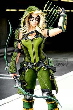 Injustice Gods Among Us Female Green Arrow Cosplay