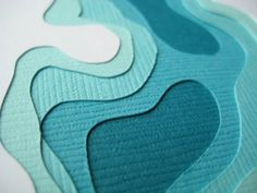 Topography in Aqua Set of 4 handcut cards by Crafterall on Etsy - For somewhere in house? Aqua, Teal, Turquoise, Recycling, Clear Bags, Paper Cards, Art Cards, Paper Cutting, Cut Paper