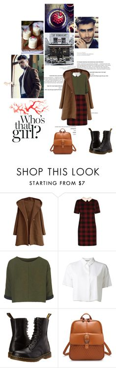 """""""Who's that girl?"""" by dandinou ❤ liked on Polyvore featuring Radcliffe, Topshop, T By Alexander Wang and Dr. Martens"""