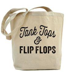 Tank Tops and Flip Flops Tote Bag #summer