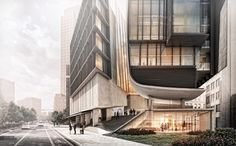 The Art of Rendering: Alex Hogrefe Creates Stunning Architecture Using SketchUp and Photoshop - Architizer Journal Architecture Design, Architecture Board, Architecture Visualization, Architecture Drawings, Architecture Portfolio, Facade Design, Cgi, Photoshop Rendering, Photoshop Tips