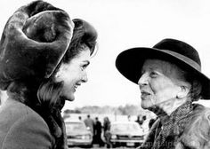 Jacqueline Onassis and Alice Roosevelt Longworth (daughter of Theodore Roosevelt), McLean, Virginia, January 12, 1969.