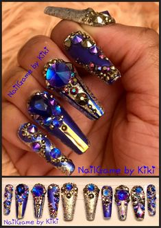 Want some ideas for wedding nail polish designs? This article is a collection of our favorite nail polish designs for your special day. Nail Polish Designs, Nail Polish Colors, Nail Art Designs, Bling Nails, My Nails, Crazy Nails, Prom Nails, Glitter Nails, Wedding Nail Polish