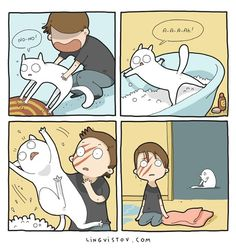 Cat ownership is a rollercoaster of emotions thanks to their often unpredictable moods, but whether you're enjoying each others company whilst curled up on the Crazy Cat Lady, Crazy Cats, Cute Cats, Funny Cats, F2 Savannah Cat, Cat Comics, All About Cats, Cat Drawing, Cat Life