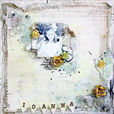"""Scraps of Elegance kit club - layout created by Nadia Cannizzo with the May """"Yesterdays"""" kit Kids Scrapbook, Scrapbooking Layouts, Scrapbook Pages, Various Artists, Scrapbooks, Mixed Media Art, Altered Art, Layout Design, Vintage World Maps"""