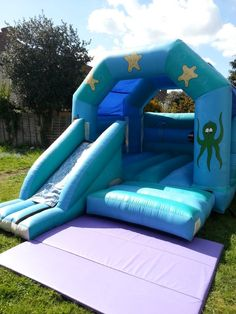 Suitable for kiddies aged 12 & under. Dimensions 12ft wide x 16ft long x 14ft high - info@bananabouncycastles.co.uk