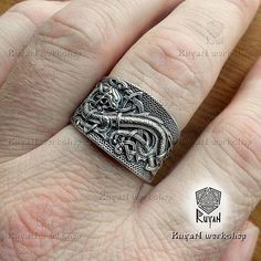 Celtic+Dragons+ring.+Jörmungandr+ring.+Norse+Viking+Dragon.