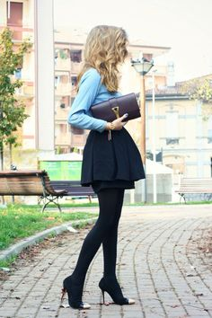 Black plus denim