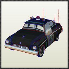 Disney Pixar: Cars - Sheriff Free Papercraft Download - http://www.papercraftsquare.com/disney-pixar-cars-sheriff-free-papercraft-download.html